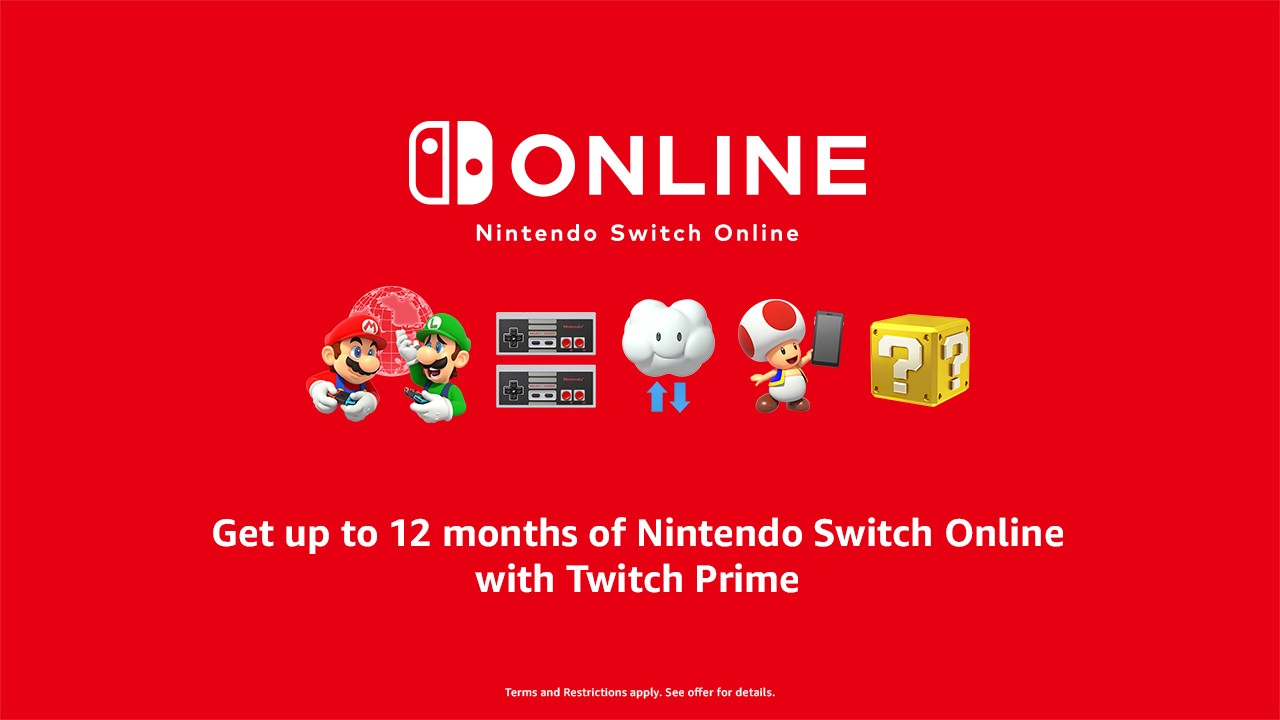 Twitch Prime Members Get Up To One Year Of Nintendo Switch Online Twitch Blog