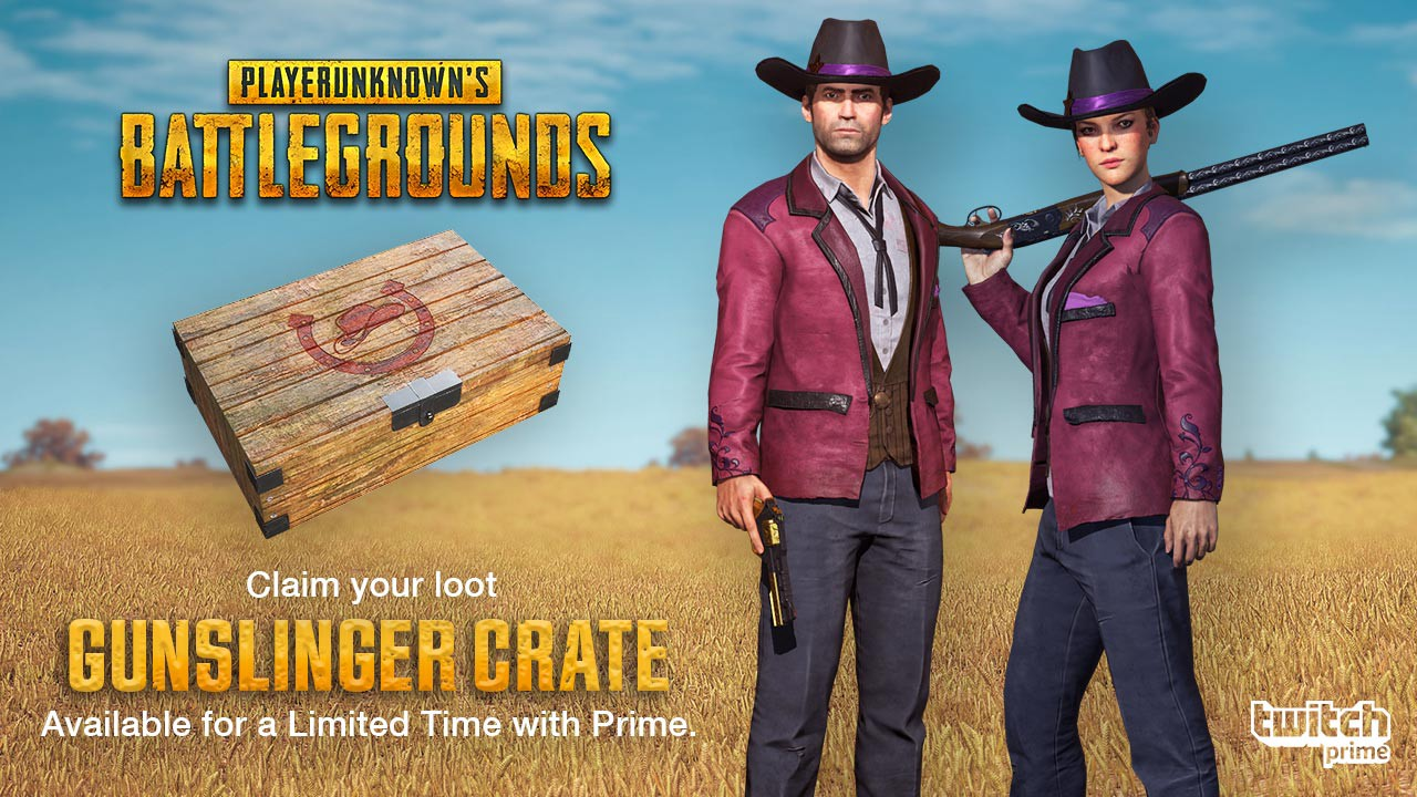 Twitch Prime Members, Prepare for a Western Showdown with the PUBG Gunslinger Crate!