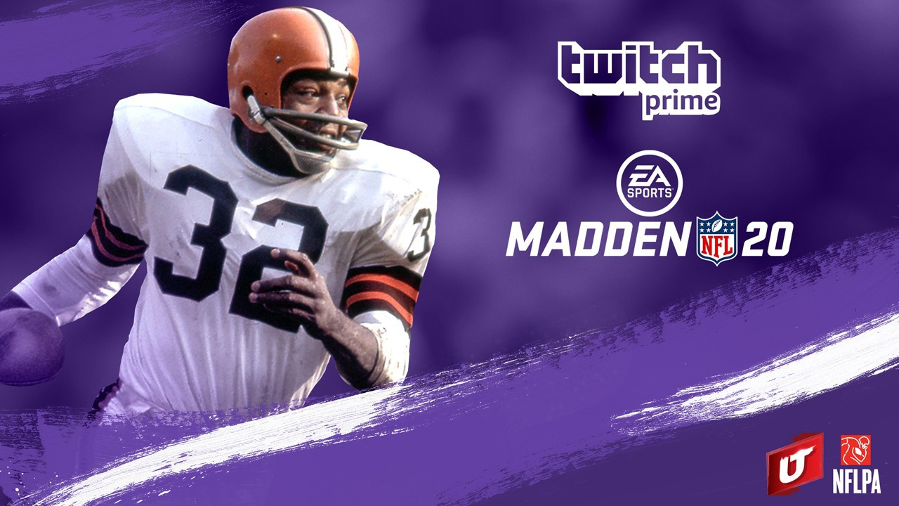 Available now with Twitch Prime: Dominate the gridiron with NFL legend Jim Brown in Madden NFL 20