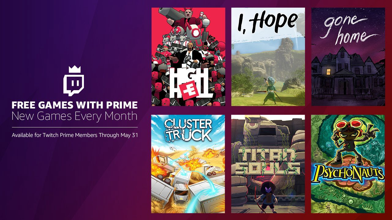 Twitch Prime members, add more awesome to your game collection with May's Free Games with Prime!
