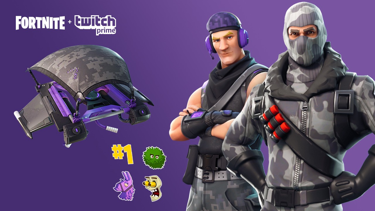 twitch prime get free fortnite skins