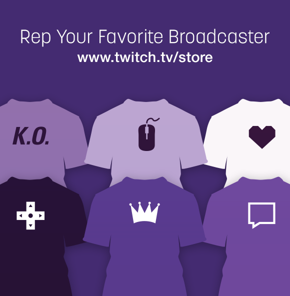 purchase twitch merch to support your favorite streamer